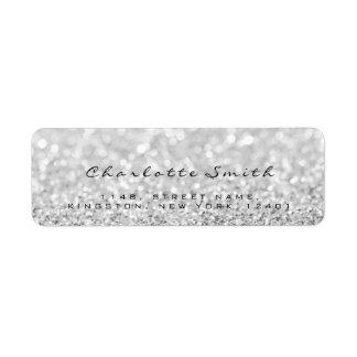 Silver Gray Glitter Return Address Labels