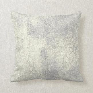 Silver Gray Gold Sepia Minimal Painting Pastel Throw Pillow
