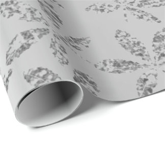 Silver Gray Graphite Metallic Herb Hashish Foil Wrapping Paper