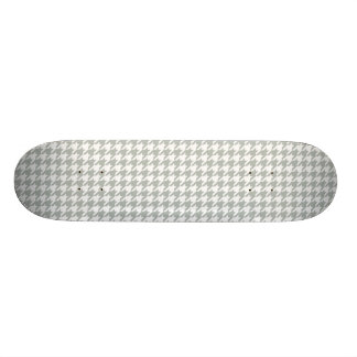 Silver Gray Houndstooth Skateboard Deck