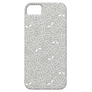 Silver Gray Leaf Pattern iPhone 5 Case