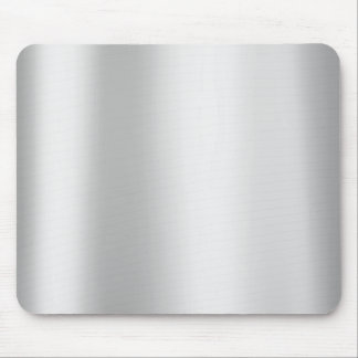 Silver Gray Monochrom Minimal Gold Metallic Steel Mouse Pad
