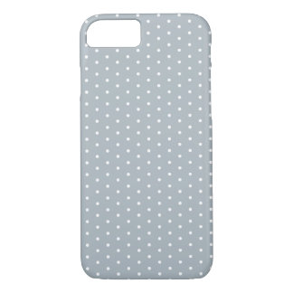 Silver Gray Polka Dot iPhone 7 iPhone 8/7 Case