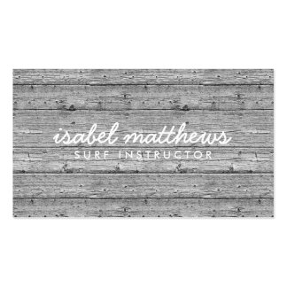 Silver Gray Reclaimed Wood Pack Of Standard Business Cards