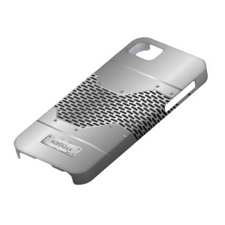 Silver Gray Shiny Metallic Look Pattern iPhone 5 Cover