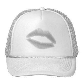 SILVER GRAY SNOWFLAKE KISS LIPS FASHION BEAUTY MAK TRUCKER HAT