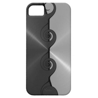 Silver Gray Stainless Metallic Cut Out Pattern iPhone 5 Cover
