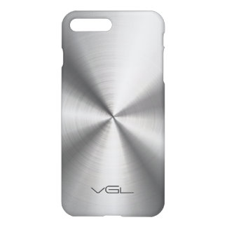 Silver Gray Stainless Steel Look iPhone 7 Plus Case