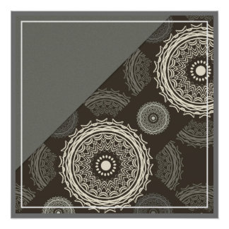 Silver Gray Taupe Circles Abstract Perfect Poster