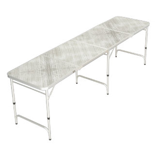 Silver Gray Textured Pattern Beer Pong Table