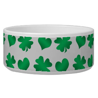 Silver green shamrocks and hearts