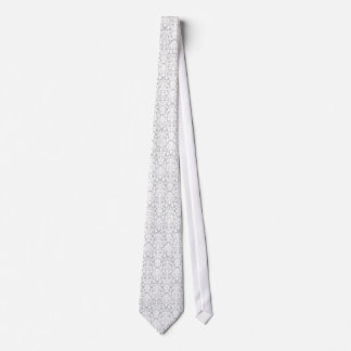 Silver Grey and white Damask Tie