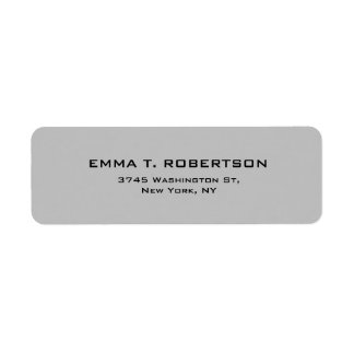 Silver Grey Elegant Modern Trendy Minimalist