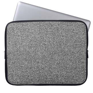 Silver grey faux glitter laptop sleeve