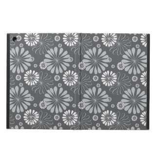 Silver Grey Floral iPad Air Cover