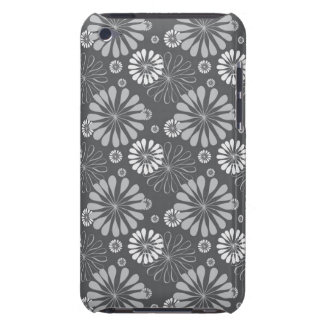 Silver Grey Floral iPod Touch Case