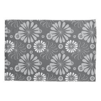 Silver Grey Floral Pillowcase