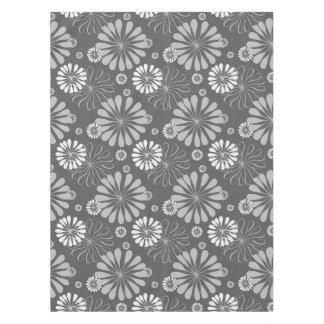 Silver Grey Floral Tablecloth
