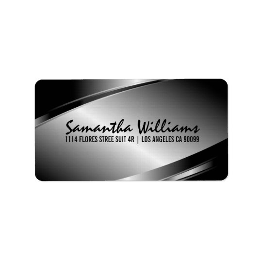 Silver Grey Metallic Design Label