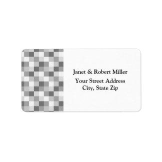 Silver Grey Monochrome Checkered Pattern