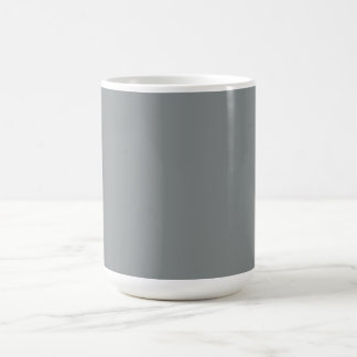 Silver Grey Personalized Gray Color Background Coffee Mug