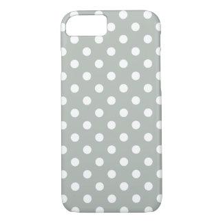 Silver Grey Polka Dot iPhone 7 Case