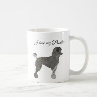 Silver Grey Poodle Love Coffee Mug Customize