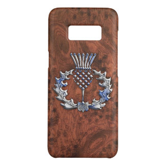 Silver Grey Scottish Thistle Decor on a Case-Mate Samsung Galaxy S8 Case