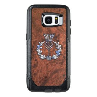 Silver Grey Scottish Thistle Decor on a OtterBox Samsung Galaxy S7 Edge Case