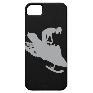 Silver Grey Snowmobiler iPhone 5 Cover