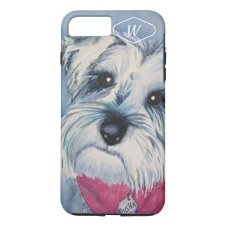 SILVER GREY SWEET SCHNAUZER iPhone 8 PLUS/7 PLUS CASE