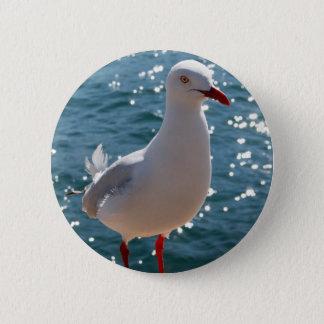 Silver Gull 2 Inch Round Button