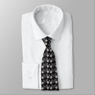 Silver Hand Prints Chiropractic Tie