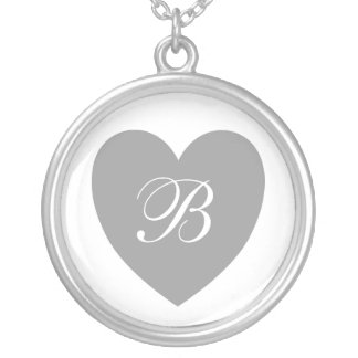 Silver Heart Monogrammed Necklace