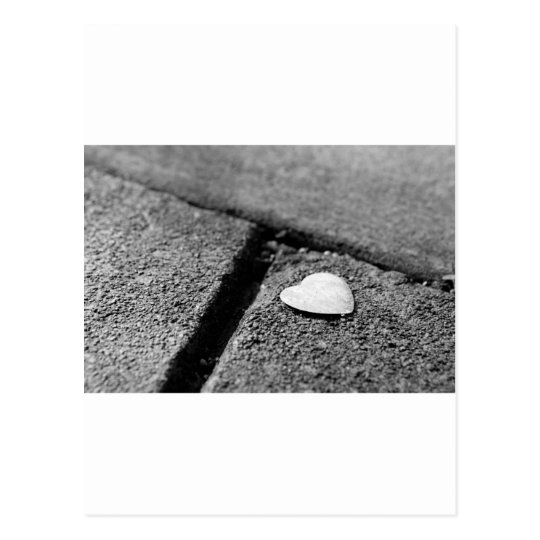 Silver Heart on Sidewalk Postcard