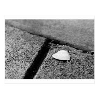 Silver Heart on Sidewalk Postcard