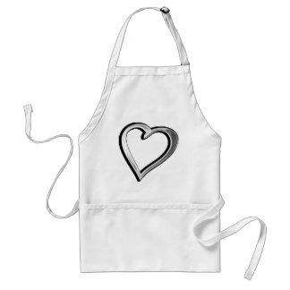 Silver Heart Standard Apron
