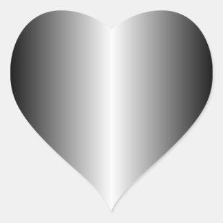 Silver Heart Sticker
