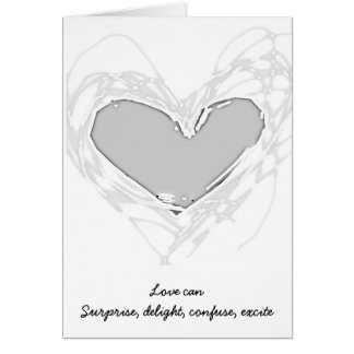 Silver Heart Wedding Card for Gay Couples