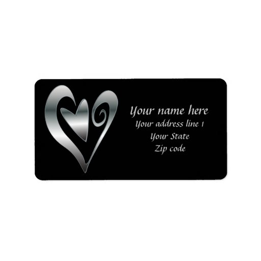 Silver  hearts on Black Labels