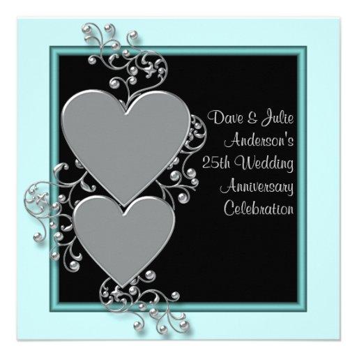 25th wedding anniversary invites  4 000 25th wedding