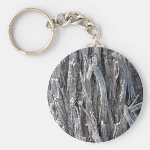 Silver Heavy Metal Wire Strands Design Keychain