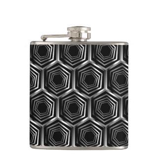 Silver hexagonal optical illusion flasks