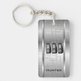 Silver Hi-Tech Code Locker Keychain