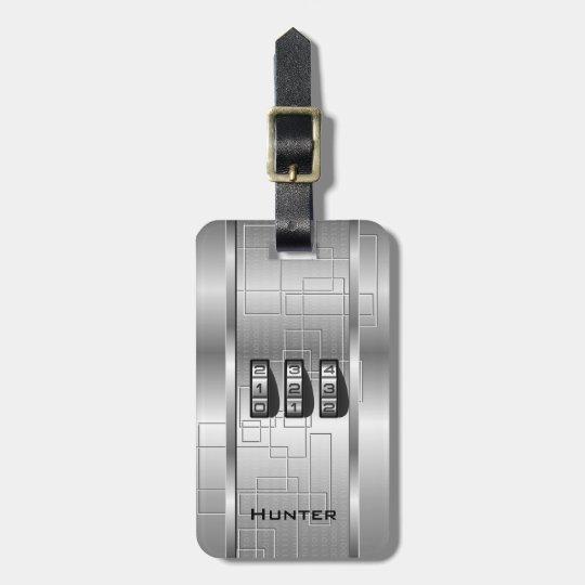 Silver Hi-Tech Code Locker Luggage Tag