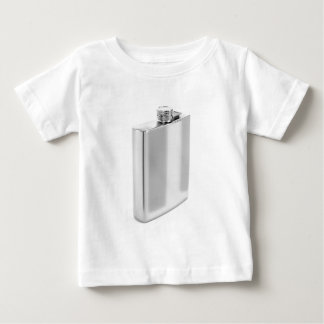 Silver hip flask baby T-Shirt