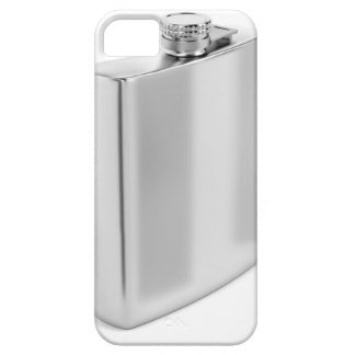 Silver hip flask iPhone 5 case