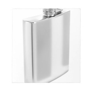 Silver hip flask notepad