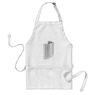 Silver hip flask standard apron