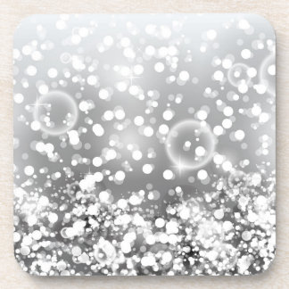 Silver Holiday Coasters